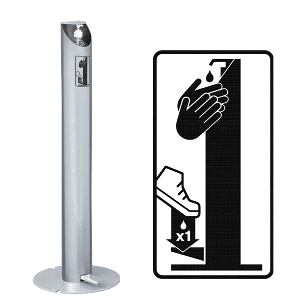 Freestanding touchless dispenser